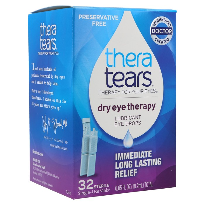 TheraTears Lubricant Eye Drops 32 Single-Use Containers - 0.65 Ounces