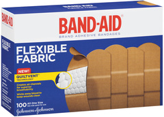 Band-Aid Adhesive Bandages, Flexible Fabric, All One Size  - 100ea