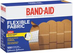 Band-Aid Adhesive Bandages, Flexible Fabric, All One Size  - 100ea