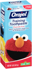 Orajel Training Toothpaste, Fluoride-Free, Berry Fun - 1.5 Ounces