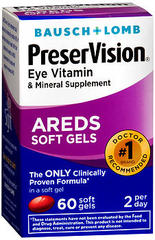 Bausch & Lomb PreserVision Soft Gels - 60 CP