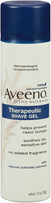 Aveeno Therapeutic Shave Gel with Natural Colloidal Oatmeal  - 7oz