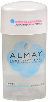 Almay Anti-Perspirant & Deodorant, Clear Gel, Super Sensitive, Fragrance Free  - 2.25oz