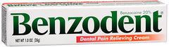 Benzodent Denture Pain Relieving Cream - 1 Ounces