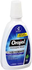 Orajel Antiseptic Mouth Sore Rinse  -  16 OZ