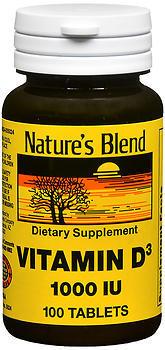 Nature's Blend Vitamin D3 1000 IU - 100 Tablets