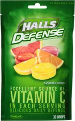 Halls Vitamin C Supplement Drops, Assorted Citrus  - 30ea