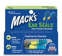 Mack's Ear Seals Earplugs - 1 Pair