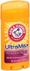 ARM & HAMMER ULTRAMAX Anti-Perspirant Deodorant Invisible Solid Powder Fresh - 2.6 Ounces