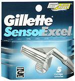 Gillette Sensor Excel Cartridges 5-Pack - 5 Each