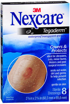 3M Nexcare Tagaderm Transparent Dressings 2-3/8 X 2-3/4 - 8 Each