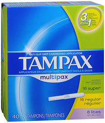 Tampax Tampons Multipax Flushable Applicator - 40 Each