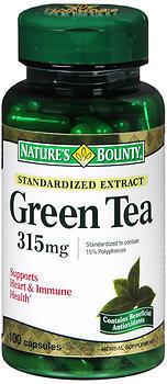 Nature's Bounty Green Tea 315 mg Capsules - 100 CP