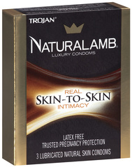 Naturalamb Natural Skin Condoms - 3 Each