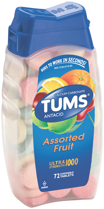 Tums Ultra Tablets Assorted Fruit - 72 Each