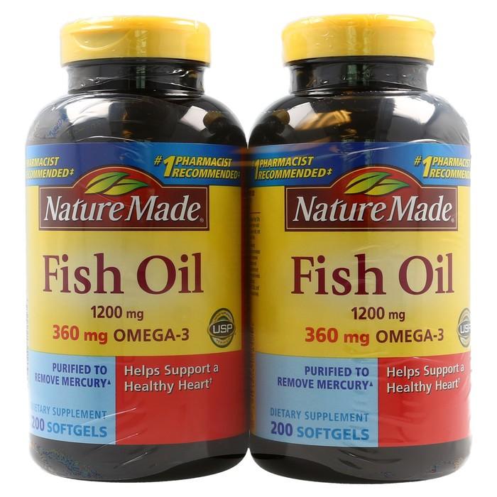 Nature Made  Fish Oil 1200 mg  - 400 Liquid Soft gels