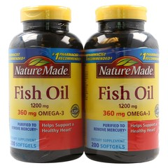 Nature Made  Fish Oil 1200 mg  - 400 Liquid Soft gels