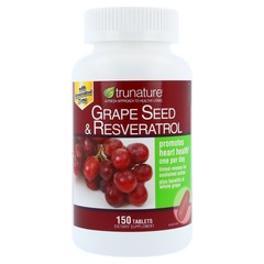TruNature Grape Seed with Whole Grape and Resveratrol   - 150 Tablets