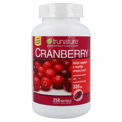 TRUNATURE Cranberry 300 mg - Dietary Supplement, 250 Softgels