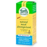 Tom's of Maine Nasal   Children's Decongestant PM   Liquid  4 oz