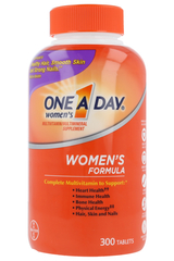 Women's One A Day Multi-Vitamin / Multi-Mineral Supplement - 300 Tablets