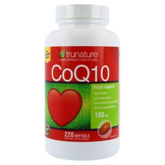 TruNature CoEnzyme Q10 100mg - 220 Soft gels