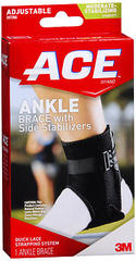 ACE Ankle Brace with Side Stabilizers Adjustable
