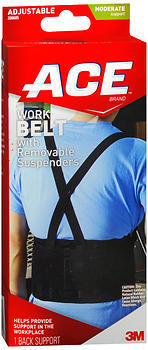 ACE Work Belt with Removal Suspenders One Size
