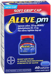 Aleve pm Sleep Aid Plus 12 Hour Pain Relieving Strength of Aleve Caplets
