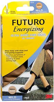 Revitalizing Ultra Sheer Knee Highs for Women Nude, Large