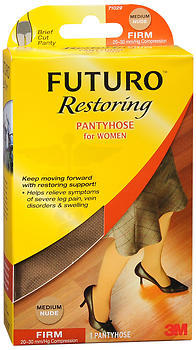 6ba247ada FUTURO Restoring Pantyhose for Women Brief Cut Panty Medium Nude ...