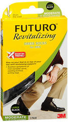 FUTURO Revitalizing Dress Socks for Men Moderate Compression Large Black