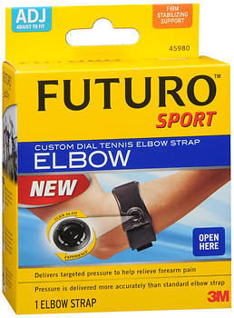 FUTURO Sport Custom Dial Tennis Elbow Strap Adjust to Fit Firm Stabilizing Support