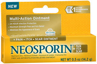Neosporin Pain + Itch + Scar Antibiotic/Pain Relieving Ointment