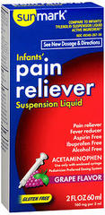 Sunmark Infants' Pain Reliever Suspension Liquid Grape Flavor