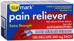 Sunmark Pain Reliever Extra Strength Gelcaps