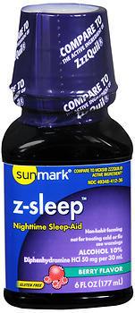 Sunmark Z-Sleep Nighttime Sleep-Aid Liquid Berry Flavor