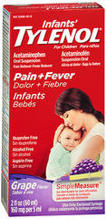 TYLENOL Infants' Pain + Fever Oral Suspension Grape Flavor