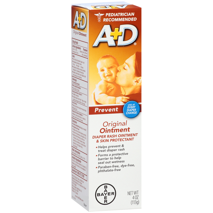 A+D Diaper Rash Ointment & Skin Protectant Original - 4 OUNCE
