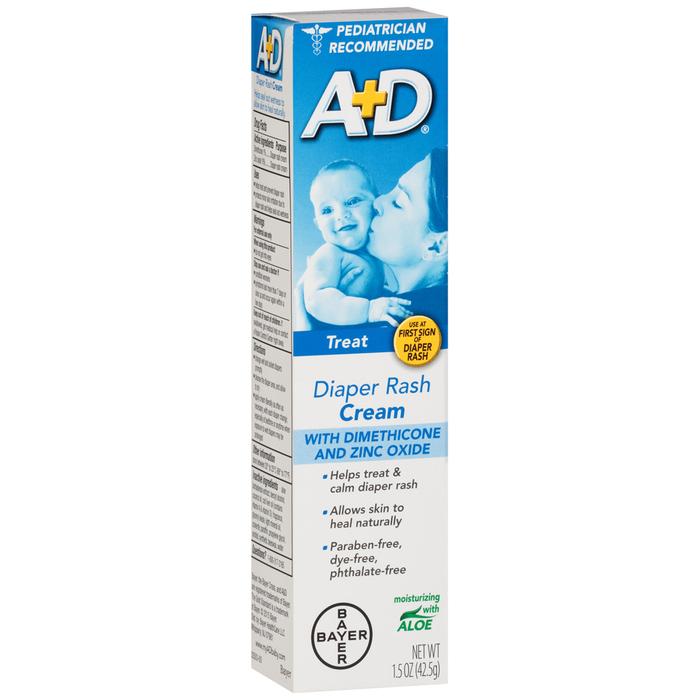 A+D Zinc Oxide Cream Diaper Rash Cream - 1.5 OUNCE