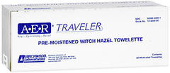 AER Traveler Pre-Moistened Witch Hazel Towelettes - 50 EACH