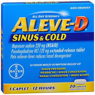 Aleve D 12 Hour Sinus & Cold Caplets - 20 TAB