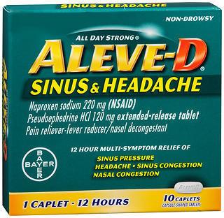 Aleve D 12 Hour Sinus & Headache Caplets - 10 TAB