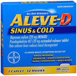Aleve-D Sinus & Cold Caplets - 10 TAB