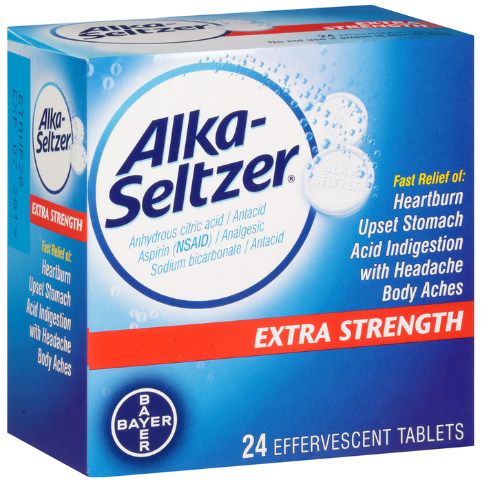 Alka-Seltzer Effervescent Tablets Extra Strength - 24 EACH