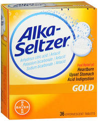 Alka-Seltzer Effervescent Tablets Gold - 36 EACH