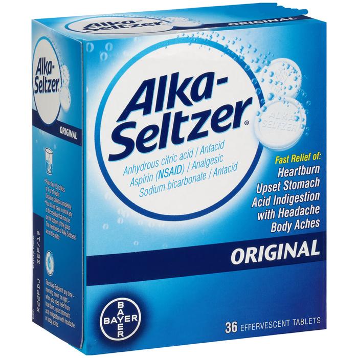 Alka-Seltzer Effervescent Tablets Original - 36 EACH