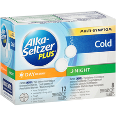 Alka-Seltzer Plus Day & Night Multi-Symptom Cold Formula Effervescent Tablets - 20 TAB