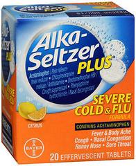 Alka-Seltzer Plus Severe Cold & Flu Formula Effervescent Tablets Citrus - 20 TAB