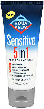 Aqua Velva Sensitive 5 in 1 After Shave Balm Lightly Scented - 3.3 OUNCE